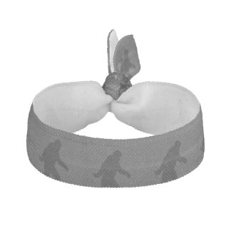 Sasquatch Silhouette on Carbon Fiber decor Ribbon Hair Tie