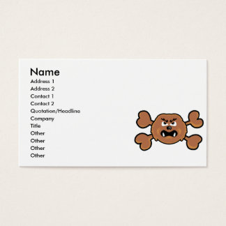 sasquatch Skull brown Crossbones Business Card