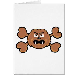 sasquatch Skull brown Crossbones Card
