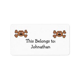 sasquatch Skull brown Crossbones Label