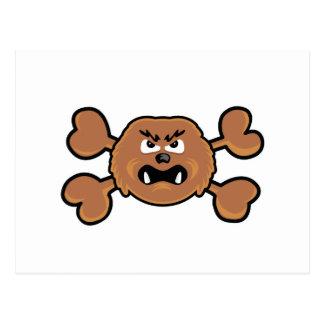 sasquatch Skull brown Crossbones Postcard