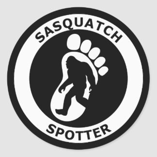 Sasquatch Spotter Classic Round Sticker