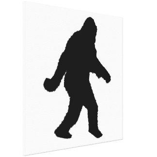 Sasquatch Squatchin' Silhouette Gallery Wrap Canvas