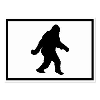 Sasquatch Squatchin' Silhouette Large Business Cards (Pack Of 100)