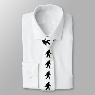 Sasquatch Squatchin' Silhouette Tie