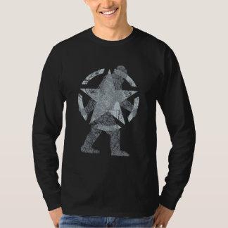 Sasquatch Stencil Star Vintage Style T-Shirt