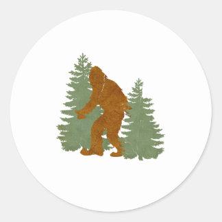 Sasquatch Round Sticker