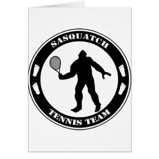 Sasquatch Tennis Team Card