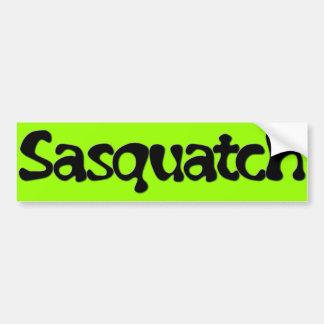Sasquatch Text Bumper Stickers