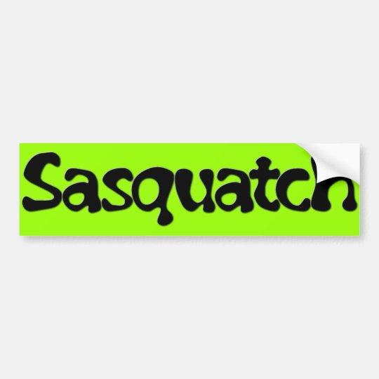 Sasquatch Text Bumper Sticker