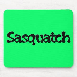 Sasquatch Text Mouse Pad