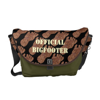 Sasquatch Track Bigfoot Fun Pattern Courier Bag