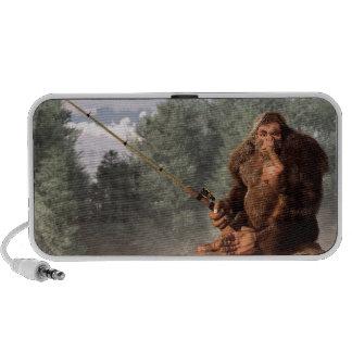 Sasquatch va a pescar iPod altavoces