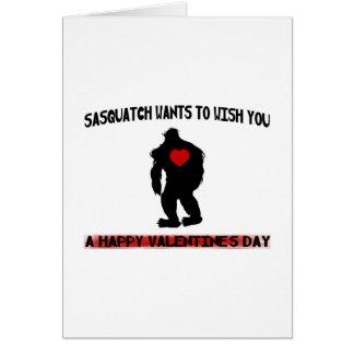 Sasquatch Valentines Day Card