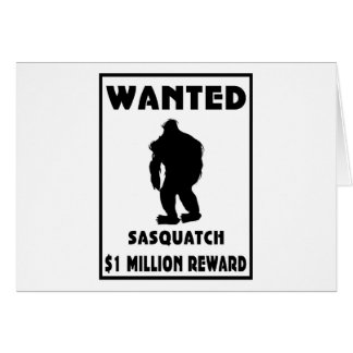 Sasquatch Wanted Poster Card