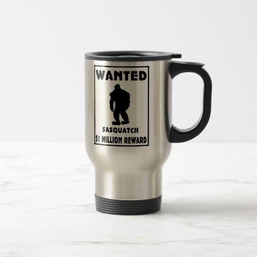 Sasquatch Wanted Poster Mugs