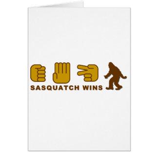 Sasquatch Wins Card
