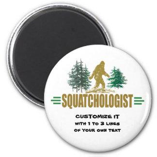 Sasquatching divertido, cazador de Sasquatch Imán Redondo 5 Cm