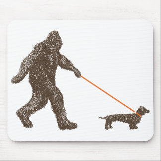 Sasquatch's Best Friend Mouse Pad