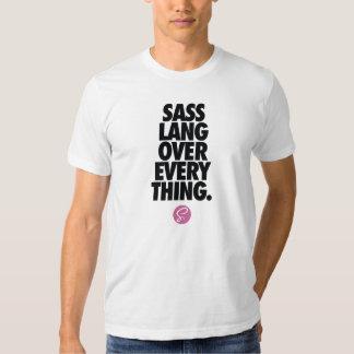 """SASS CSS T-Shirt - """"SASS Lang over Everything"""""""