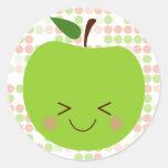 Sass de Apple Pegatina Redonda