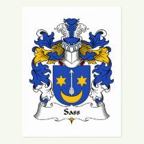 Sass Family Crest Postcard