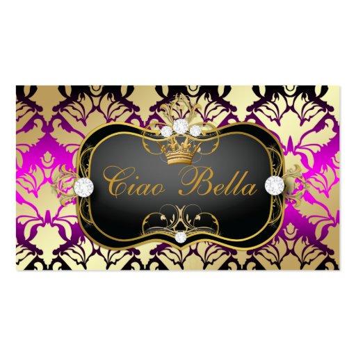 Sass rosado del Ciao Bella de 311 negros azabaches Tarjetas Personales