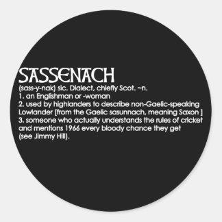 Sassenach Classic Round Sticker