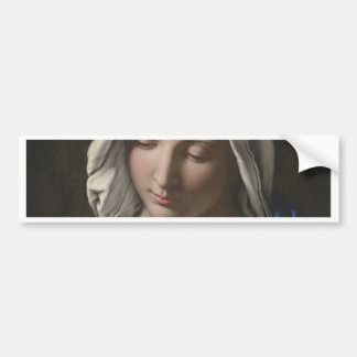 Sassoferrato - Madonna in prayer Bumper Sticker