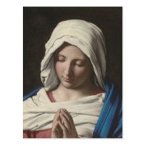 Sassoferrato - Madonna in prayer Postcard