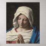 Sassoferrato - Madonna in prayer Print