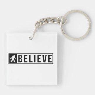 Sassquatch Believe Keychain