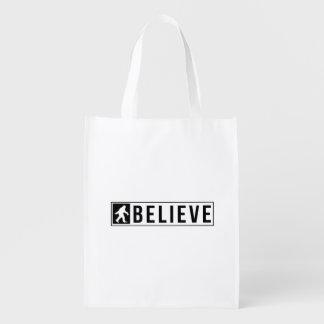Sassquatch Believe Reusable Grocery Bag