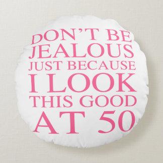 Sassy 50th Birthday For Women Round Pillow