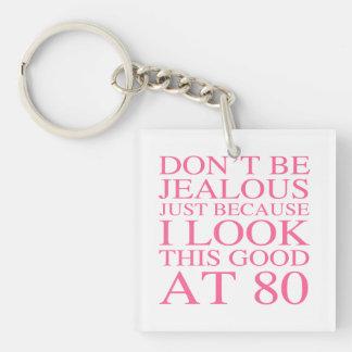 Sassy 80th Birthday For Women Keychain
