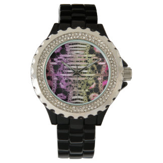 Sassy Abstract Kisses Wrist Watch
