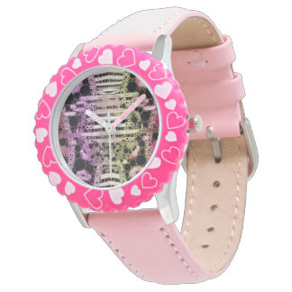Sassy Abstract Kisses Wristwatches