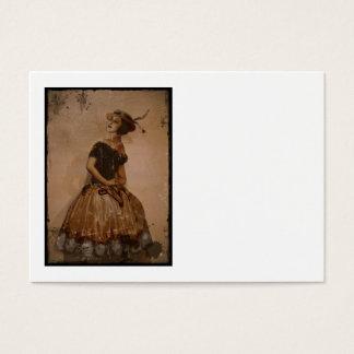 Sassy Ballet Dance in Straw Hat Business Card