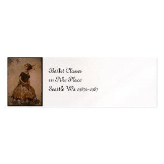 Sassy Ballet Dance in Straw Hat Mini Business Card