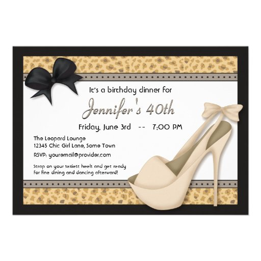 Personalized High heel Invitations CustomInvitations4Ucom
