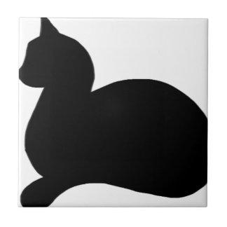 Sassy Black Cat Tile