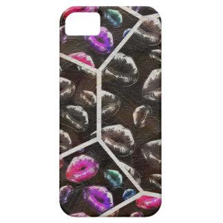 Sassy Black Rainbow Lips iPhone SE/5/5s Case