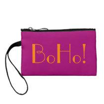 Sassy BoHo Flirt Pink Bagettes Tote Coin Wallet