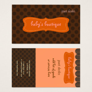Sassy boutique, Chocolate Brown Polkda Dots Business Card