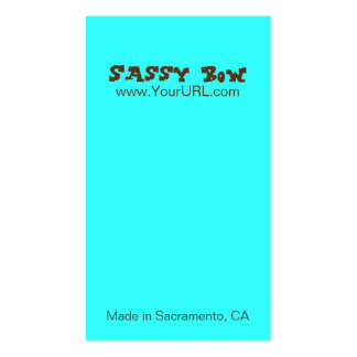 Sassy Bow Blue & Teal Bow Cards Double-Sided Standard Business Cards (Pack Of 100)