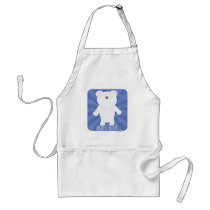 Sassy Cartoon Molar Bear Adult Apron