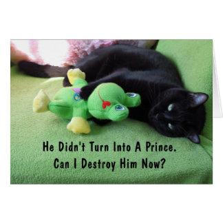 Sassy Cat & Froggy Friendship Card