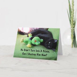 Sassy Cat & Froggy Valentine's Day Card card