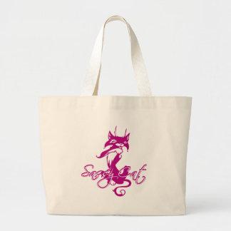 Sassy Cat Large Tote Bag