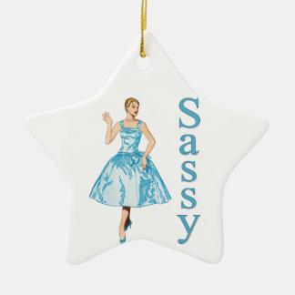 Sassy Ceramic Ornament